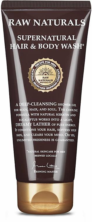 Шампоан-душ гел за мъже - Recipe For Men RAW Naturals Supernatural Hair & Body Wash — снимка N1