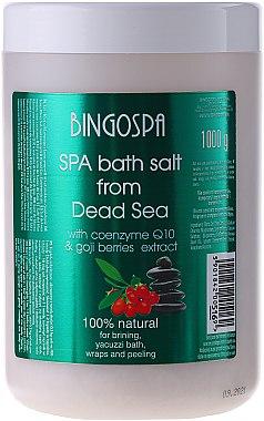Спа сол от Мъртво море с коензим Q10 и зехтин - BingoSpa Salt For Bath SPA of Dead Sea