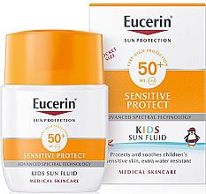 Парфюмерия и Козметика Слънцезащитен флуид за деца - Eucerin Kids Sun Fluid Sensitive Protect SPF 50+