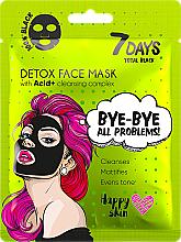 Парфюмерия и Козметика Маска за лице - 7 Days Total Black Bye bye All Problems Detox Face Mask