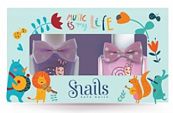 Парфюми, Парфюмерия, козметика Комплект детски лакове за нокти 2х10,5ml - Snails Mini Bebe Music Is My Life