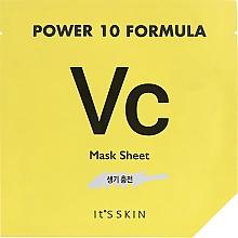 Парфюмерия и Козметика Тонизираща памучна маска за лице - It's Skin Power 10 Formula Mask Sheet VC