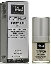 Парфюмерия и Козметика Гел против бръчки за зоната около очите и устните - MartiDerm Platinum Expression Gel