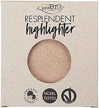 Парфюмерия и Козметика Хайлайтър за лице - PuroBio Cosmetics Resplendent Highlighter (пълнител)