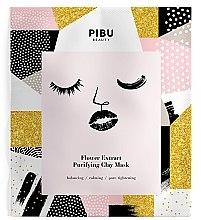 Парфюми, Парфюмерия, козметика Почистваща глинена маска за лице с екстракт от цветя - Pibu Beauty Flower Extract Purifying Clay Mask