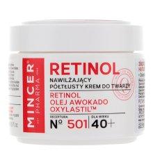 Парфюми, Парфюмерия, козметика Овлажняващ крем за лице 40+ - Mincer Pharma Retinol № 501