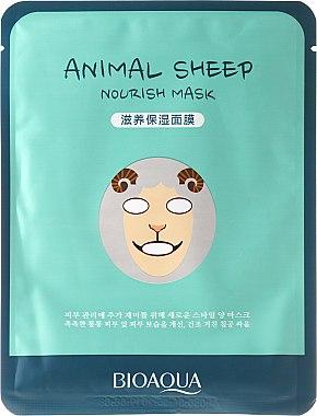 "Маска за лице от плат ""Овца"" - Bioaqua Animal Sheep Nourish Mask"