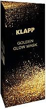 Парфюмерия и Козметика Златна изсветляваща маска за лице - Klapp Golden Glow Mask