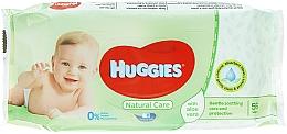 Парфюмерия и Козметика Детски мокри кърпички, 56 бр - Huggies Natural Care