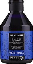 Парфюмерия и Козметика Шампоан с органичен екстракт от бадем за неутрализиране на оранжеви и медени оттенъци - Black Professional Line Platinum No Orange Shampoo With Organic Almond Extract