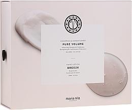Парфюмерия и Козметика Комплект - Maria Nila Pure Volume Presentbox (шампоан/350ml+балсам за коса/300ml+сапун за ръце/300ml)