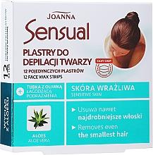 Парфюмерия и Козметика Депилиращи восъчни ленти за лице с екстракт от алое - Joanna Sensual Depilatory Face Strips