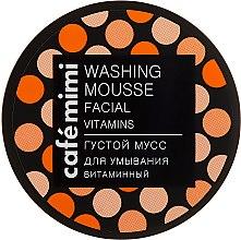 """Парфюмерия и Козметика Гъст измиващ мус за лице """"Витаминен"""" - Cafe Mimi Washing Mousse Facial Vitaminc"""