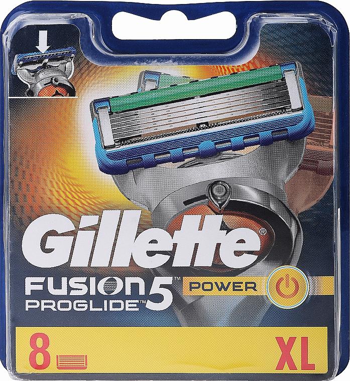 Сменяеми ножчета за бръснене, 8 бр. - Gillette Fusion ProGlide Power