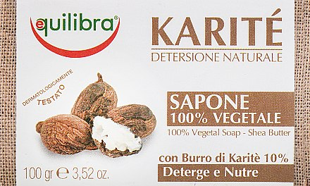 "Сапун за тяло ""Карите"" - Equilibra Karite Line Natural Soap — снимка N1"
