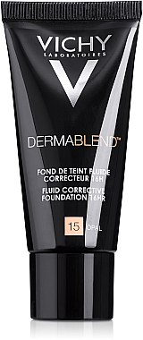 Коригиращ фон дьо тен - Vichy Dermablend Fluid Corrective Foundation 16HR — снимка N2