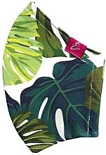 """Парфюмерия и Козметика Многоразовая защитная маска """"Монстера"""", размер L - Magabi"""