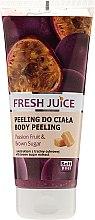 Парфюмерия и Козметика Пилинг за тяло с екстракт от маракуя и кафява захар - Fresh Juice Passion Fruit & Brown Sugar