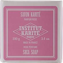 Комплект - Institut Karite Rose Mademoiselle (сапун/100g + крем/30ml + масло/10ml + свещ/1 бр. + конф. + кутия) — снимка N8