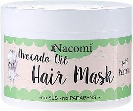 Парфюмерия и Козметика Маска за коса с кератин и масло от авокадо - Nacomi Natural With Keratin & Avocado Oil Hair Mask