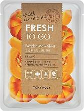 Парфюмерия и Козметика Освежаваща памучна маска за лице с екстракт от тиква - Tony Moly Fresh To Go Mask Sheet Pumpkin