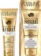 Парфюми, Парфюмерия, козметика Матиращ ВВ крем - Eveline Cosmetics Royal Snail BB Cream 8in1