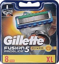 Парфюмерия и Козметика Сменяеми ножчета за бръснене, 8 бр. - Gillette Fusion ProGlide Power
