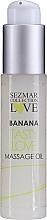 Парфюмерия и Козметика Масажно масло с аромат на банан - Sezmar Collection Love Banana Tasty Love Massage Oil (мини)