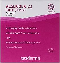 Парфюмерия и Козметика Ампули с комплексно действие и гликолова киселина - SesDerma Laboratories Acglicolic 20 Ampoules