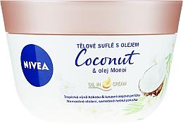 Парфюмерия и Козметика Суфле за тяло с кокос и моной масло - Nivea Body Souffle Coconut & Monoi Oil