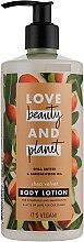 Парфюмерия и Козметика Лосион за тяло с масло от шеа - Love Beauty&Planet Shea Butter & Sandalwood Oil Lotion