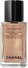 Парфюмерия и Козметика Течен хайлайтър за лице - Chanel Les Beiges Sheer Healthy Glow Highlighting Fluid