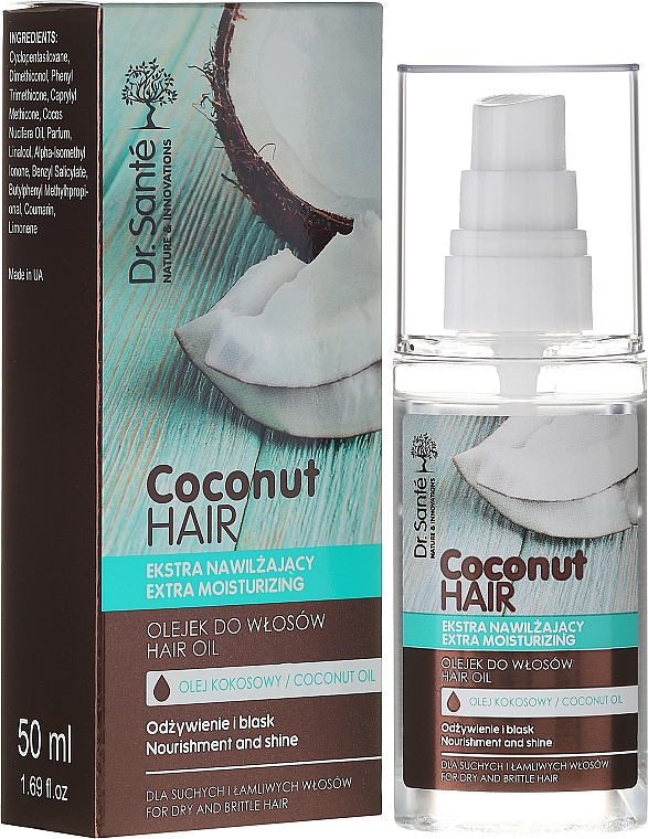 "Масло за коса ""Подхранване и блясък"" - Dr. Sante Coconut Hair"