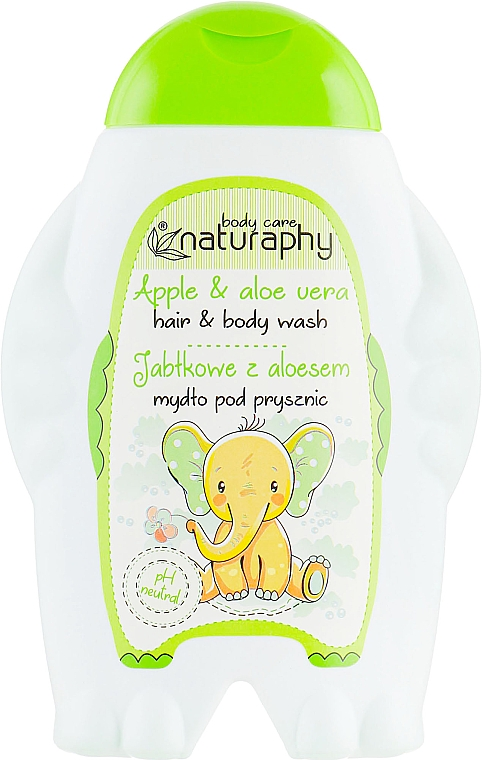 "Детски шампоан и душ гел 2в1 ""Ябълка"" - Bluxcosmetics Naturaphy Hair&Body Wash"