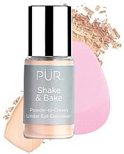 Парфюмерия и Козметика Коректор за очи - Pur Shake & Bake Powder-to-Cream Under Eye Concealer