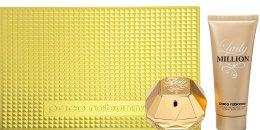 Парфюми, Парфюмерия, козметика Paco Rabanne Lady Million - Комплект (edp/80ml + b/l 100ml)