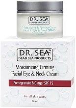 Парфюмерия и Козметика Хидратиращ и стягащ крем за лице и шия с екстракт от нар и джинджифил SPF 15 - Dr. Sea Moisturizing Cream
