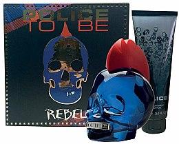 Парфюмерия и Козметика Police To Be Rebel - Комплект (тоал. вода/75ml + душ гел/100ml)