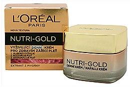 Парфюми, Парфюмерия, козметика Подхранващ дневен крем за лице - L'Oreal Paris Nutri Gold Nourishing Daily Cream