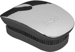 Парфюмерия и Козметика Четка за коса - Ikoo Pocket Oyster Metallic Black