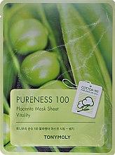 Парфюми, Парфюмерия, козметика Маска от плат, с екстракт от фитоплацента - Tony Moly Pureness 100 Placenta Mask Sheet