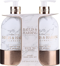 Парфюмерия и Козметика Комплект грижа за ръце - Baylis & Harding White Tea & Neroli Hand Care Set (сапун/500ml + лосион/500ml)