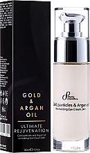 Парфюми, Парфюмерия, козметика Околоочен крем със златни частици и арган - Hristina Cosmetics Sayaz Gold Particles and Argan Oil Revitalizing Eye Cream 24H