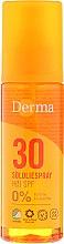 Парфюми, Парфюмерия, козметика слънцезащитно масло за тяло - Derma Sun Sun Oil SPF30 High