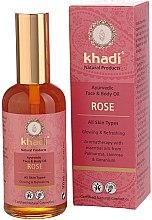"""Парфюми, Парфюмерия, козметика Масло за лице и тяло """"Роза"""" - Khadi"""