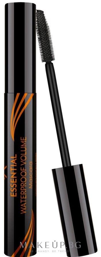 Водоустойчива спирала за мигли - Golden Rose Essential Waterproof Mascara — снимка Black
