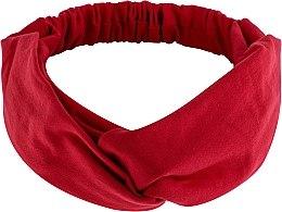 """Парфюмерия и Козметика Лента за глава, от плат, червена """"Knit Twist"""" - MakeUp Hair Accessories"""