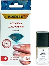 Парфюмерия и Козметика Копринен балсам за нокти 10 в1 - Kosmed Silk Nail Conditioner