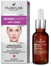 Парфюмерия и Козметика Подмладяващ нощен киселинен пилинг за лице - Floslek Dermo Expert Anti Aging Peeling