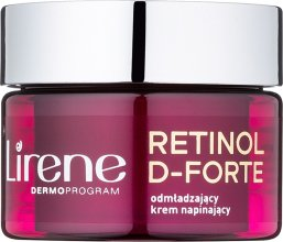 Парфюми, Парфюмерия, козметика Дневен подмладяващ крем за лице - Lirene Retinol D-Forte Rejuvenating Day Cream For Skin Tightening 60+